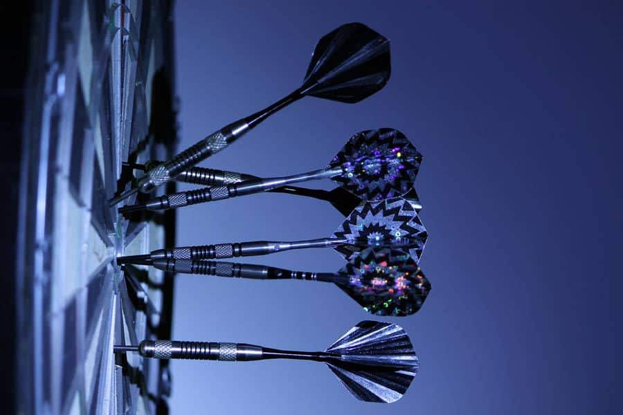 darts on a target