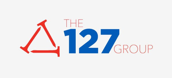 Te 127 Group logo in full color, red and blue