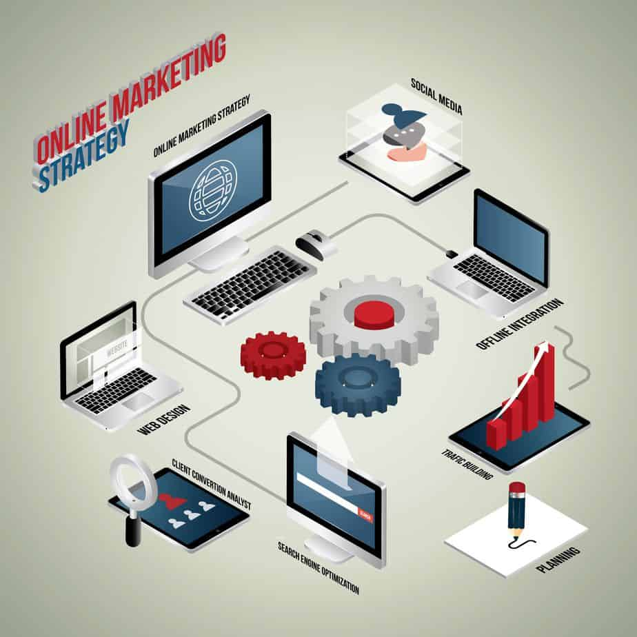 Online Marketing Strategy Illustration