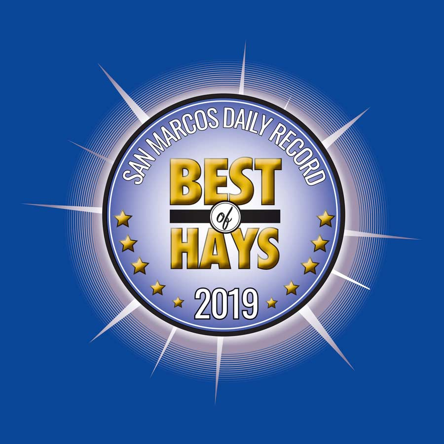 San Marcos Daily Record Best of Hays 2019 seal