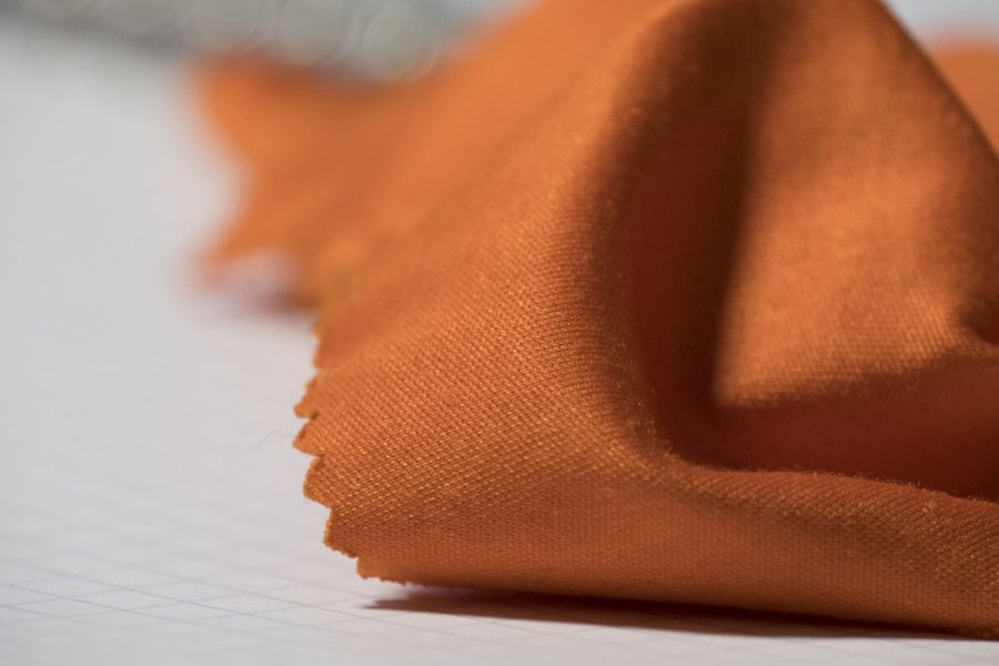 Orange microfiber cloth